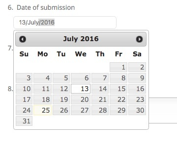 Using a date picker takes the guesswork out of entering dates