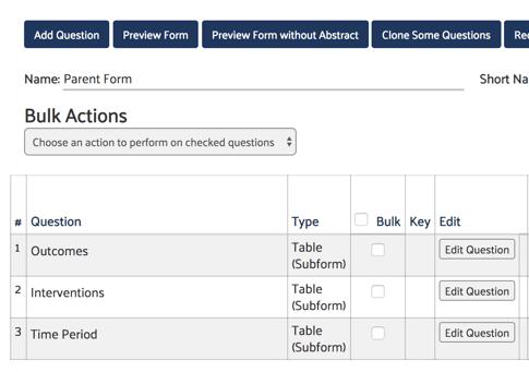 Form Setup Example