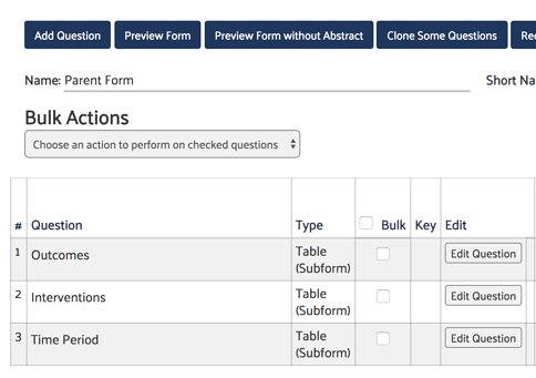 Form Setup Example